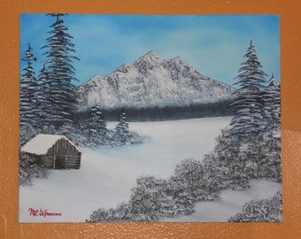 """Landscape Oil Painting titiled """"Winter Hideaway"""""""