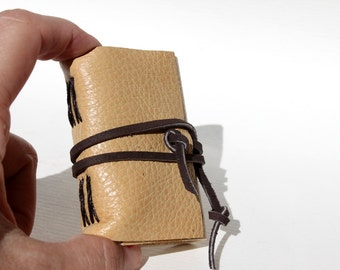 Wee Mini Notebook - Butterscotch Leather - Handmade