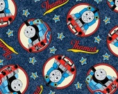 Thomas the Tank Engine Cotton Fabric - Free Shipping