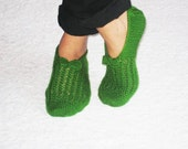 Grass Green Chic Slippers for Cold Days
