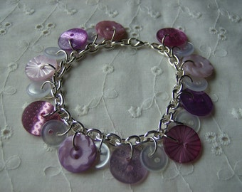 Fifty Shades of.... Pink Button Bracelet Free Shipping