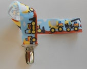Pacifier Holder    Construction Tonka Trucks