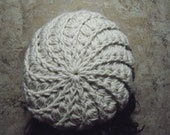 Winter White Slouch Hat Baggy Beanie Snood Loose Beret Tam (or choose any color)