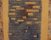 Memorial Poem:  Custom LIsting Found Poetry for Erin D.