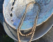 Cocktail Party Vintage Champagne Faux Double Strand Pearls