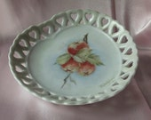 Vintage Shabby Chic Heart Shaped  Plate