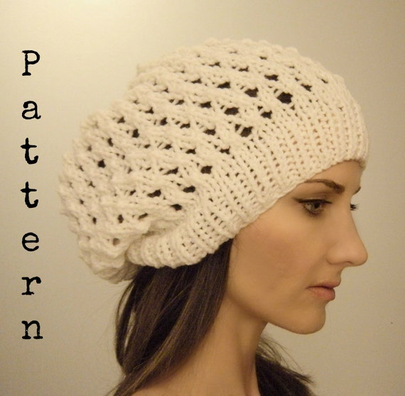 Slouch hat PATTERN Lake Effect beanie beret