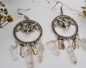 Reserved for aggressivelyjenevieve.. Steer Skull Quartz Dangles