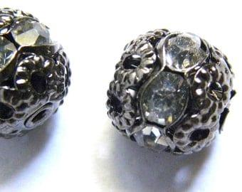 Rhinestone Bead, 6mm