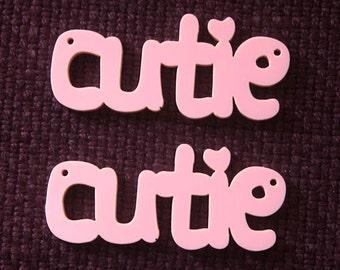 2 x Cutie laser cut pendants - any colour