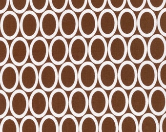Ovals from Remix by Ann Kelle and Robert Kaufman, Ovals in Brown 1/2 yd total