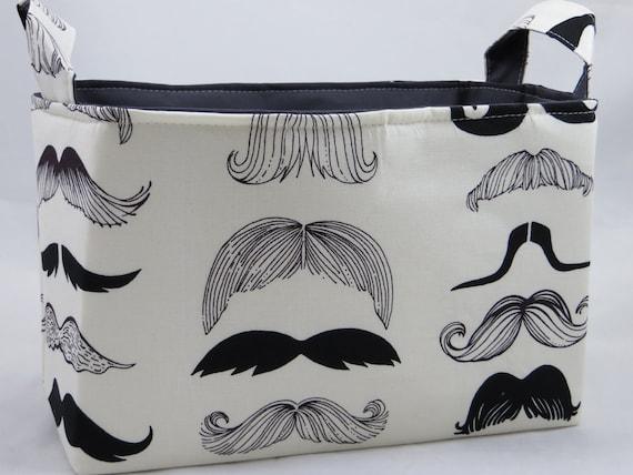 Fabric organizer Bin Mustaches