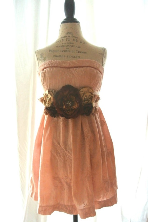Gypsy cowgirl party dress, boho, french country sundress, romantic, shabby chic clothing, womens clothing, cottage chic,
