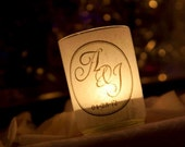 Wedding Candle Holder Personalized by Spell It Out