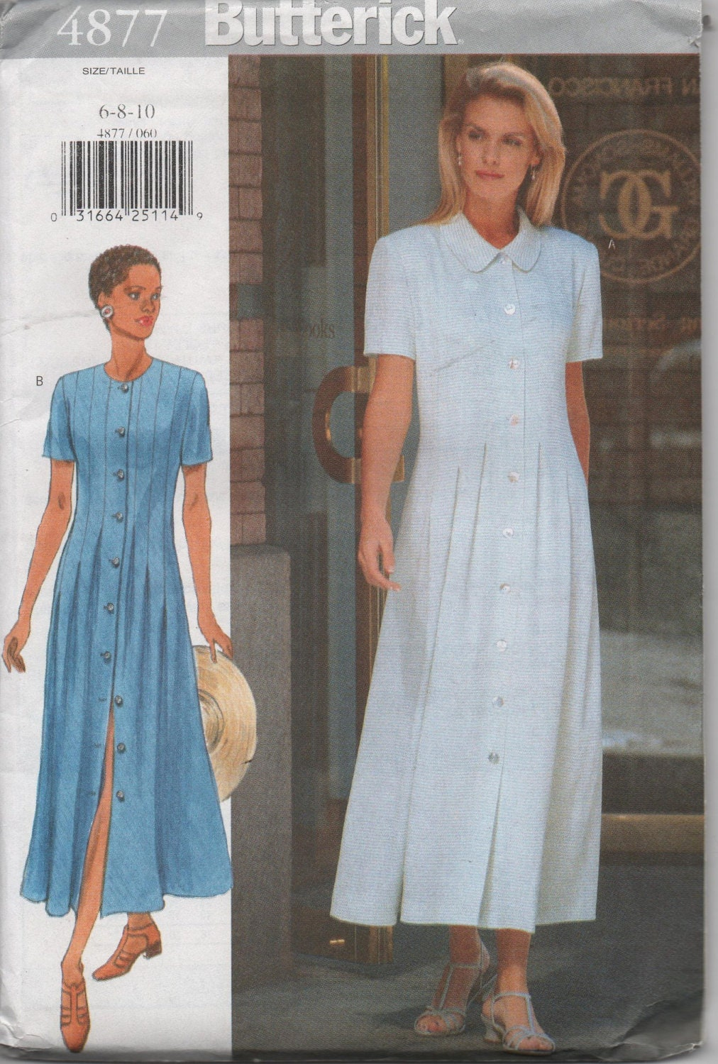 Modest Long Dress Sewing Pattern for Ladies by by creekyattic