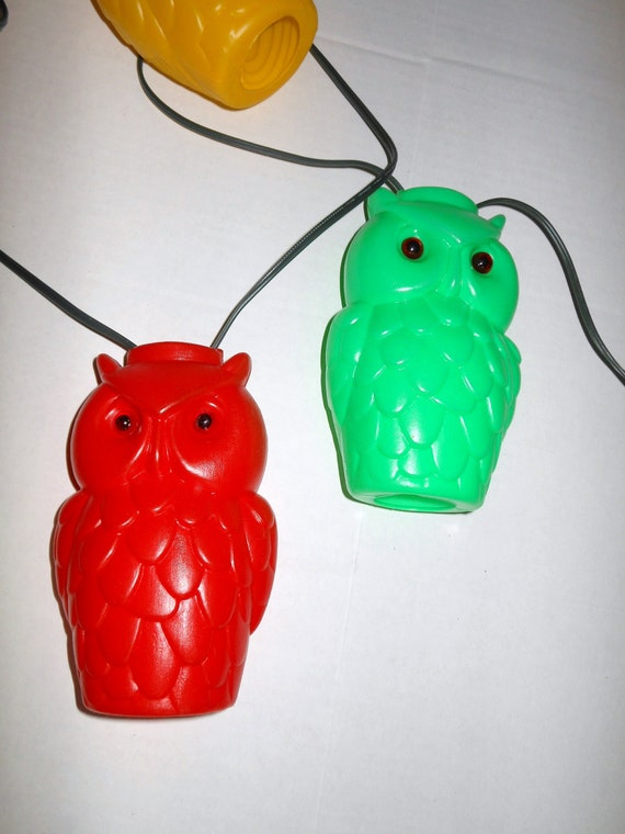 Vintage Blow Mold Owl Party String Lights Rv Camper Patio