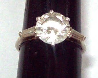 CZ Ring Sterling Silver Size 9
