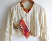 vintage embroidered ethnic blouse S