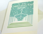 PACK OF 5 It Was Christmas Eve Babe, Modern Irish Trad Christmas Card