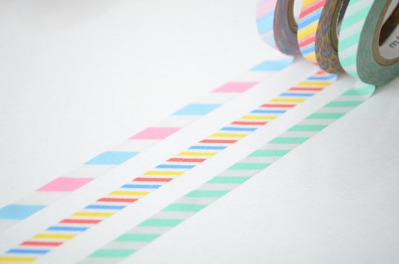 mt 2012 Autumn NEW- Japanese Washi Masking Tapes / 6mm Slim Twist Cord A set of 3