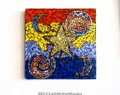 "Hippie Wall Art - Psychedelic Mosaic Design - ""Star Shine"" - Free Shipping Within US - SALE - Item Price has been reduced"