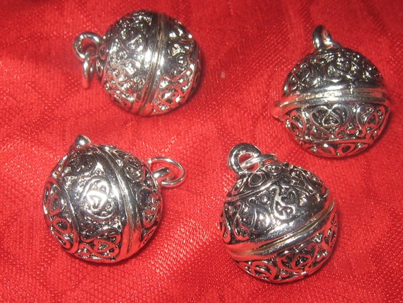 New WHOLESALE LOT of Four Silver Poison Locket Pendants