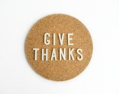 Give Thanks 10 Vintage White Plastic Pin Back letters - MonkiVintage