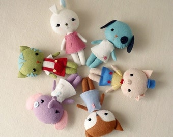 Pocket Pets pdf Pattern - You Choose Four