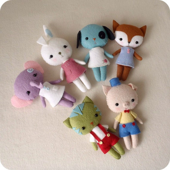 Pocket Pets pdf Pattern - Set of Six