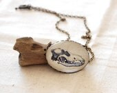 Wolf Skull Necklace. Halloween Jewelry.