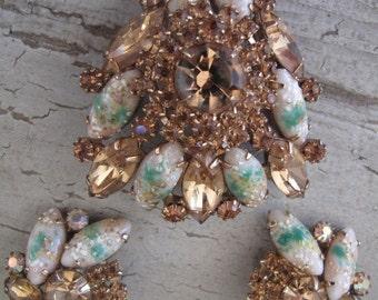 Juliana Style Brooch and Earrings