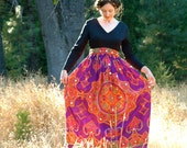 1960s Psychedelic Dress... Hippie Maxi Dress... Vintage Festival Dress... LIQUID LIGHT (xs/s)