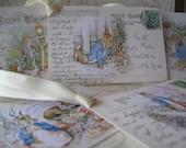 Peter Rabbit Digital Gift or Wish Tags - 50% OFF SALE - DIY Beatrix Potter Peter Rabbit Digital File Tags - 5 Wish tags - Set 6 - pdf