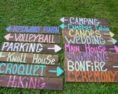 Lg NAME YOUR SIGN color 14 painted any Color barn wood Wedding signs 14 Stakes signage engagement reception baby bridal shower ceremony