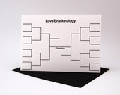 Individual Letterpress Card - Bracketology Love Card