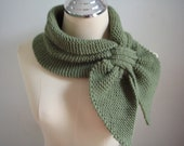 Knitted Green Scarf
