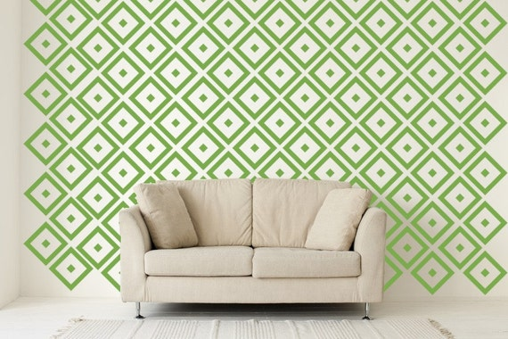 Diamond Decal, Geometric Wall Decal, Diamond Decal, Apartment Wall Decor,  Nursery Wall