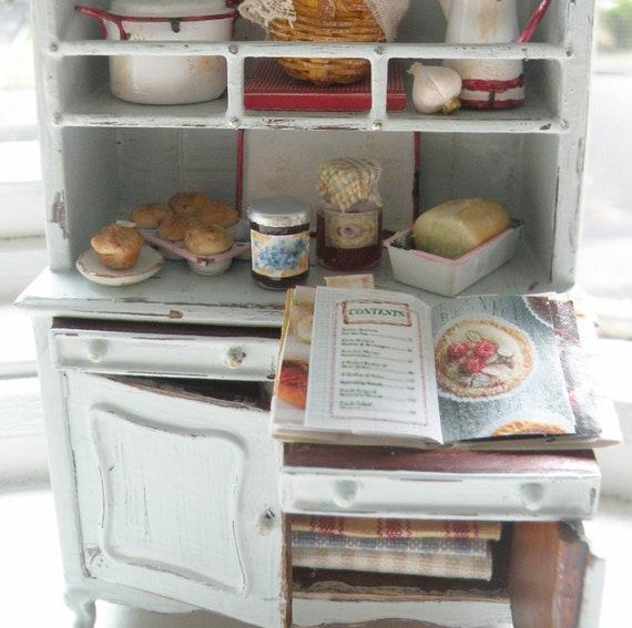 Miniature Country Kitchen Hutch