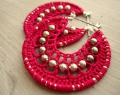 Crocheted hoops with beads