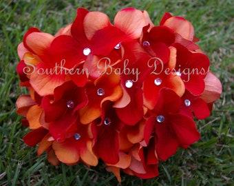 LAST SET Newborn  Autumn Splendor Hydrangea Bloomer & Headband Set Fall Autumn Thanksgiving Halloween Photo Session Prop