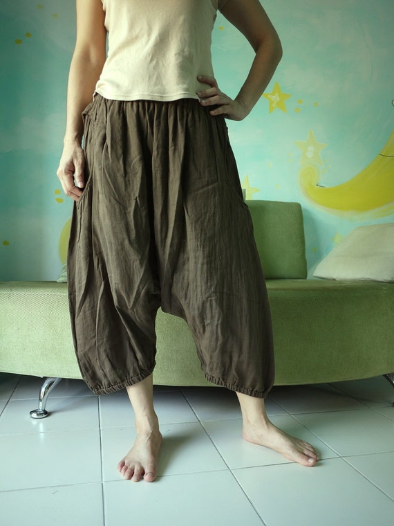 Enjoy Your Day - Azo Free Dark Brown Double Gauze Cotton... Unisex Pants