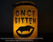 SALE Halloween Lantern Once Bitten Vampire