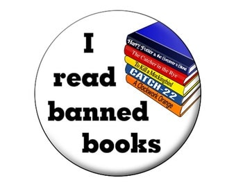Banned Books Magnet - 2.25 inch Round Large Fridge Magnet For Book Lovers, Librarians, Students and all Book Readers