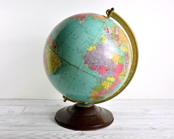 Vintage 50's Replogle World Globe