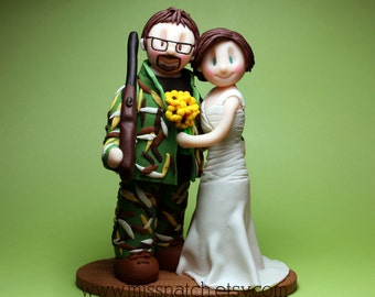 DEPOSIT - Camo Hunter Chic Wedding Cake Topper