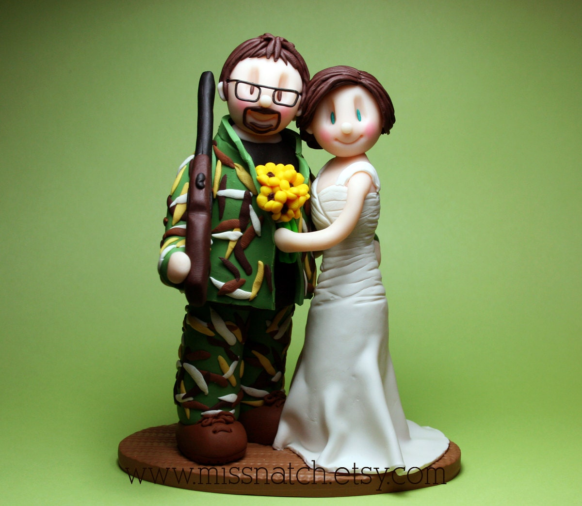 DEPOSIT Camo Hunter Chic Wedding Cake Topper By Missnatch On Etsy