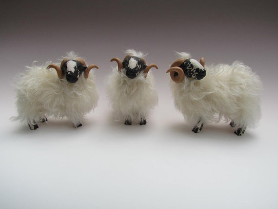 Scottish Blackface Ram Porcelain Scupture