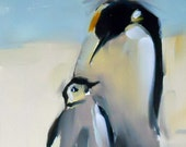 penguin love bird print by moulton 5 x 7 inches prattcreekart