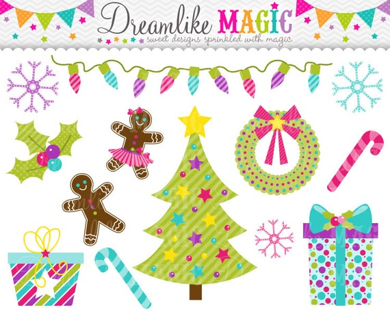 Sweet Holiday Wishes- Clipart for Personal or Commercial Use