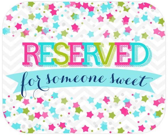 Reserved for  Alisha